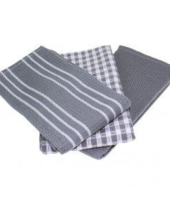 torchon vaisselle gris